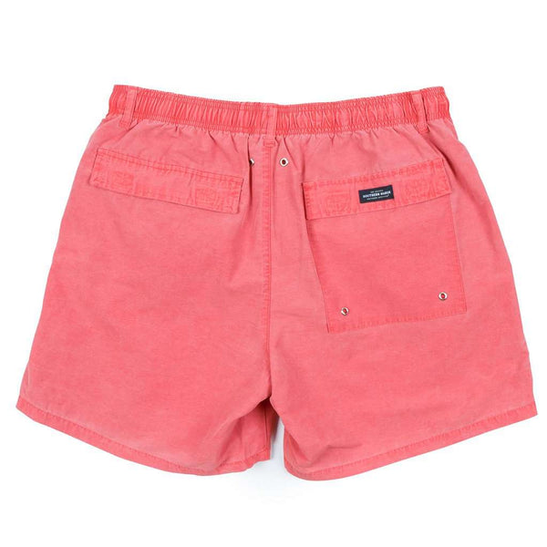 SEAWASH™ Shoals Swim Trunk in Washed Red by Southern Marsh - FINAL SALE