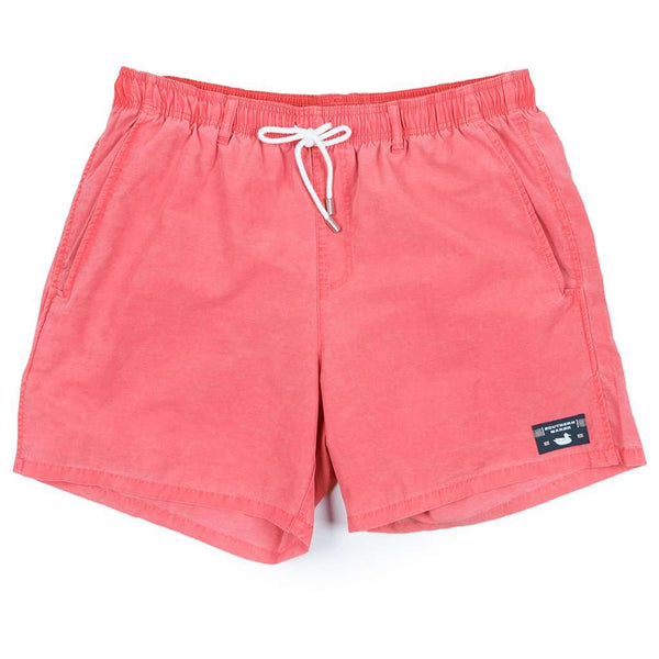 Southern Marsh SEAWASH™ Shoals Swim Trunk in Washed Red