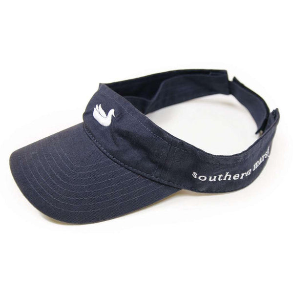Visor in Navy with White Duck by Southern Marsh