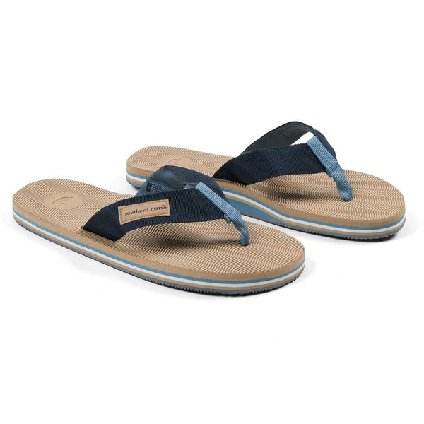 Southern Marsh Webbed Bahama Sandal in Brown & Navy
