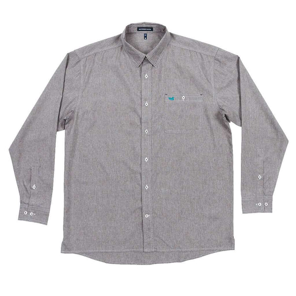 Southern Marsh West End Performance Woven Dress Shirt in Burnt Taupe