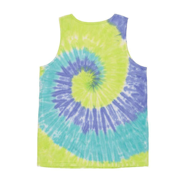 Whitling Spiral Tie Dye Tank in Lilac, Lime and Teal by Southern Marsh - FINAL SALE