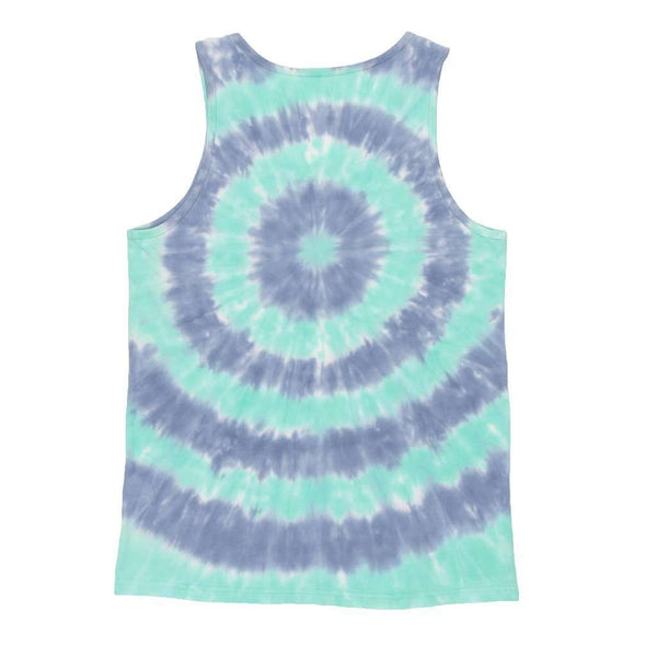 Whitling Target Tie Dye Tank in Slate and Mint by Southern Marsh