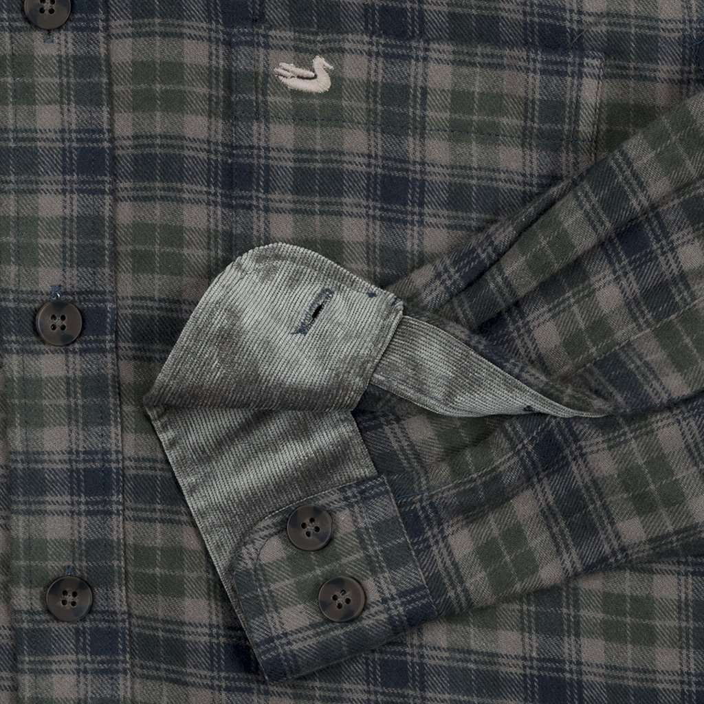 Wilson Flannel Shirt in Navy and Dark Green by Southern Marsh - FINAL SALE