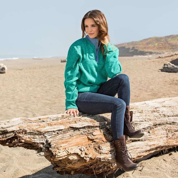 Southern Marsh Woodford Snap Performance Pullover in Wintergreen