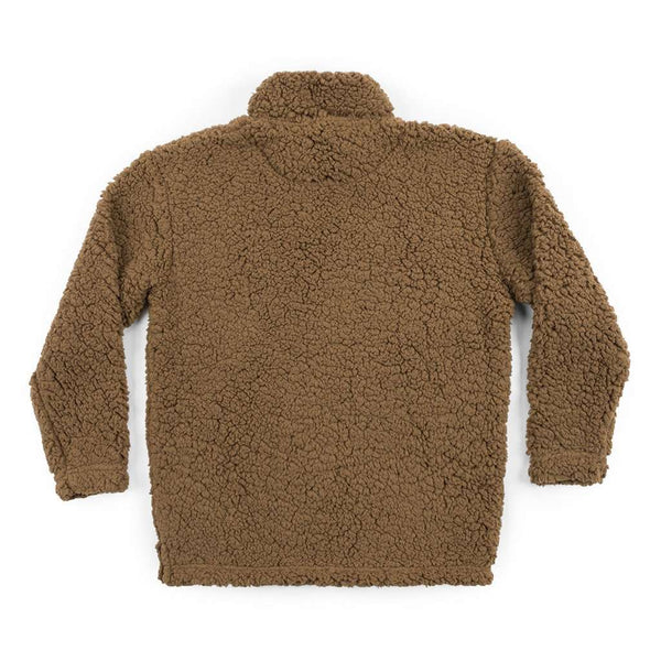 Youth Appalachian Pile Sherpa Pullover in Brown by Southern Marsh