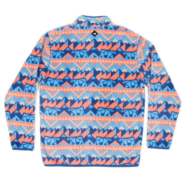 Southern Marsh Youth Fairbanks Pullover in Navy & Peach