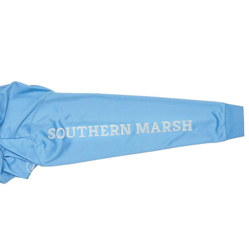 Youth FieldTec™ Fishing Team Long Sleeve Tee in Breaker Blue by Southern Marsh - FINAL SALE
