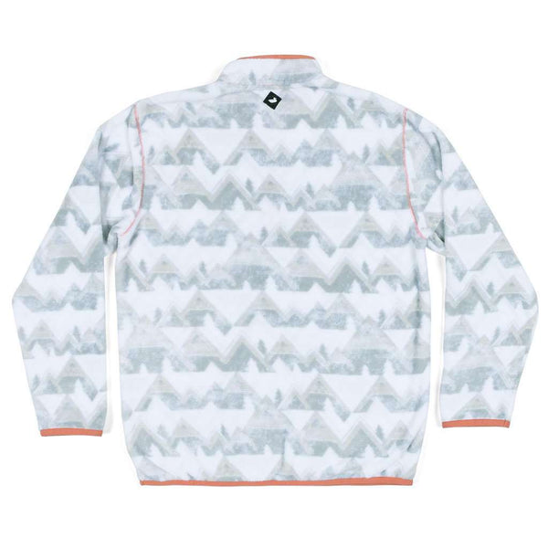 Southern Marsh Youth North Basin Pullover in White & Gray