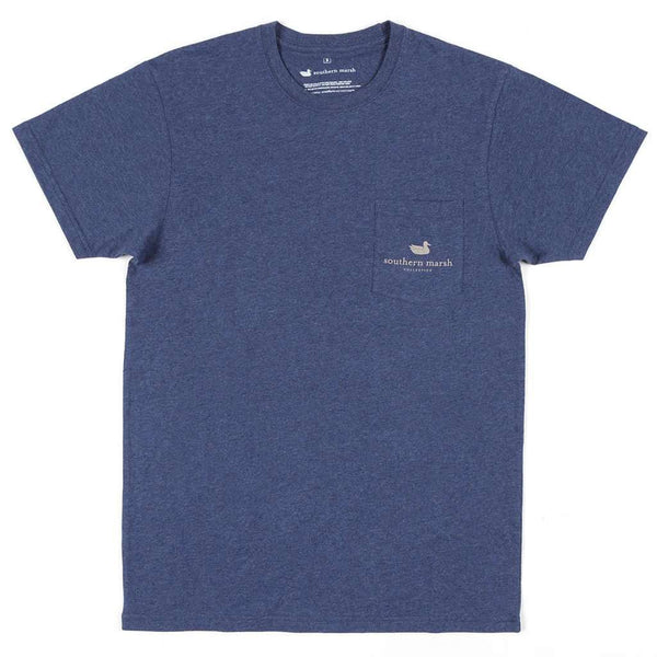 Southern Marsh Youth Origins Rack Tee in Washed Navy