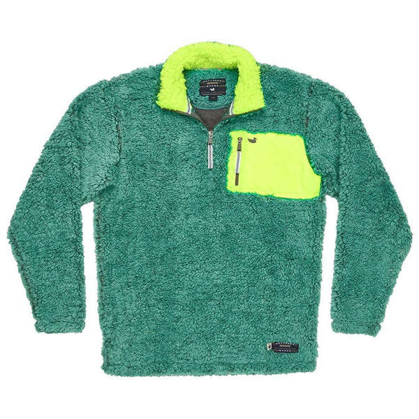 Southern Marsh Youth Peidmont Range Sherpa Pullover in Mint and Midnight