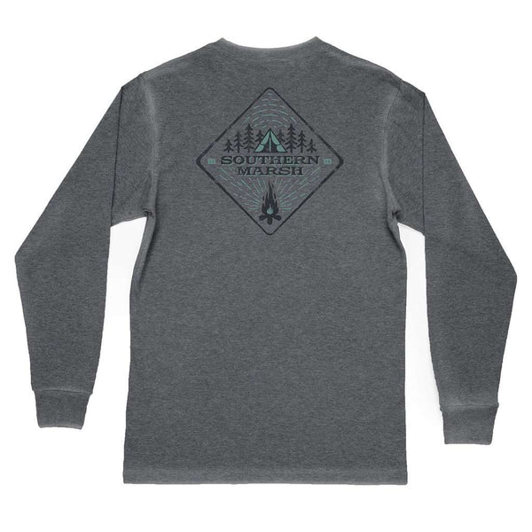 "Southern Marsh Youth SEAWASHâ""¢ Long Sleeve Tent Tee in Midnight Gray"