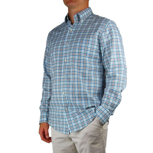 Henning Shirt in Blue Stone & Truffle Plaid by Southern Proper - FINAL SALE