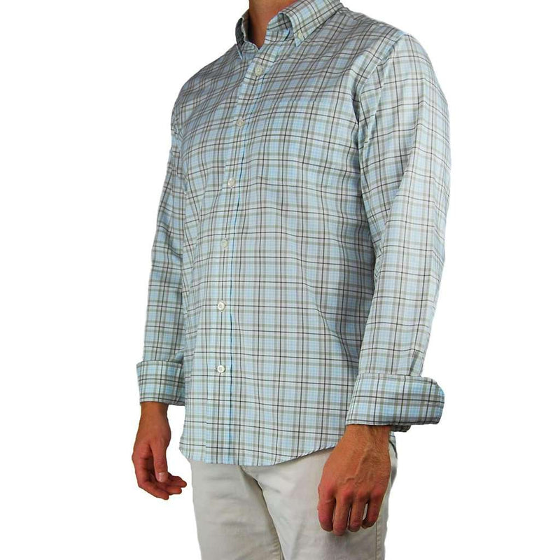Henning Shirt in Flint Grey & Bungee Cord Plaid by Southern Proper - FINAL SALE