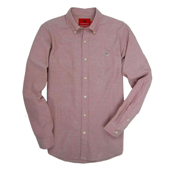Southern Proper Party Animal Oxford in Dusty Cedar