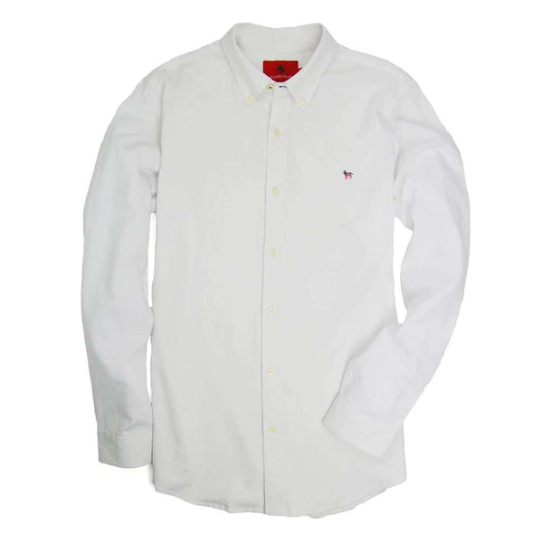 Southern Proper Party Animal Oxford in White
