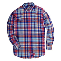 Weekend Shirt in Pool Plaid by Southern Proper - Country Club Prep