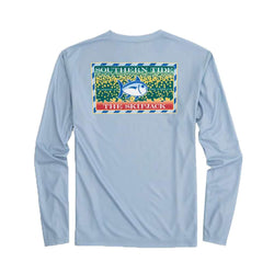 Southern Slam Series Brooke Trout Long Sleeve Performance T-Shirt in Tsunami Grey