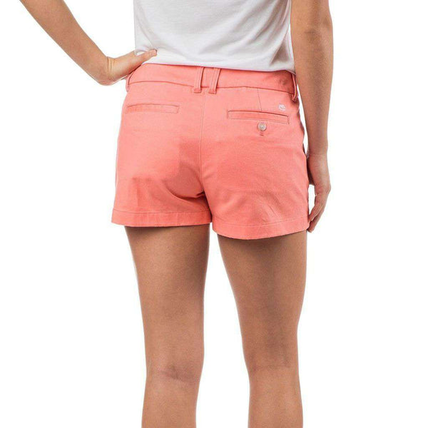"Southern Tide 3"" Leah Short in Light Coral"
