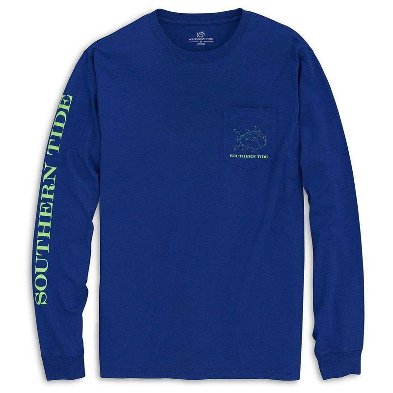 Astro Navigation Long Sleeve Tee Shirt in Blue Cove by Southern Tide - FINAL SALE
