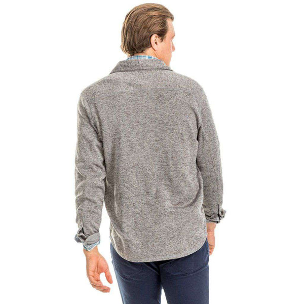 Benjies Shacket in Polarized Grey by Southern Tide - FINAL SALE