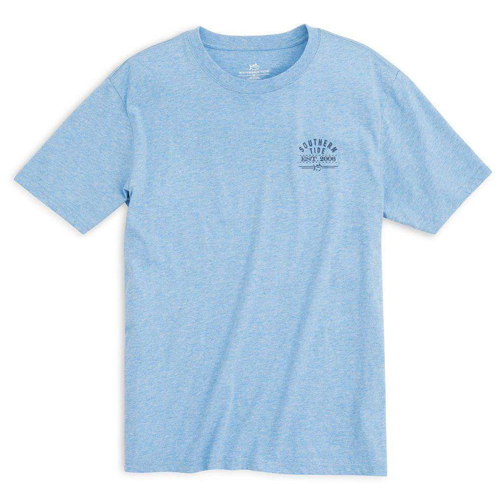 Southern Tide Bourbon Bottle T-Shirt in Ocean Channel
