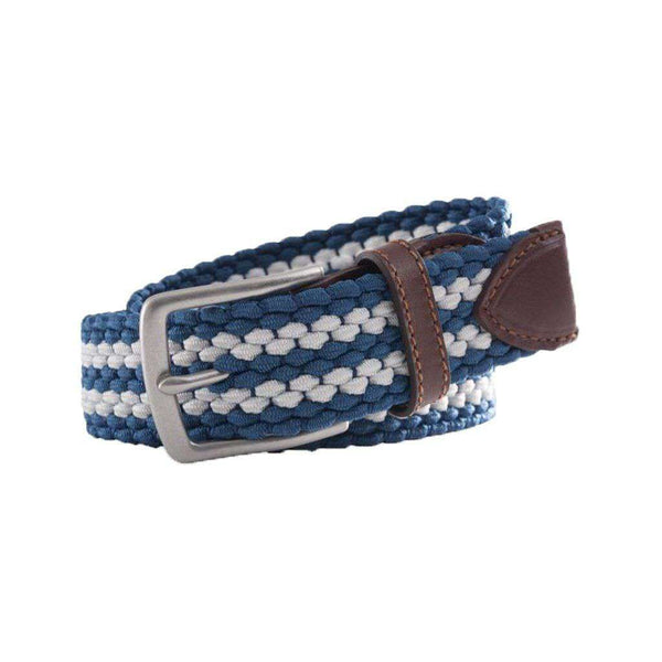Southern Tide Braided Elastic Web Belt in Dutch Blue