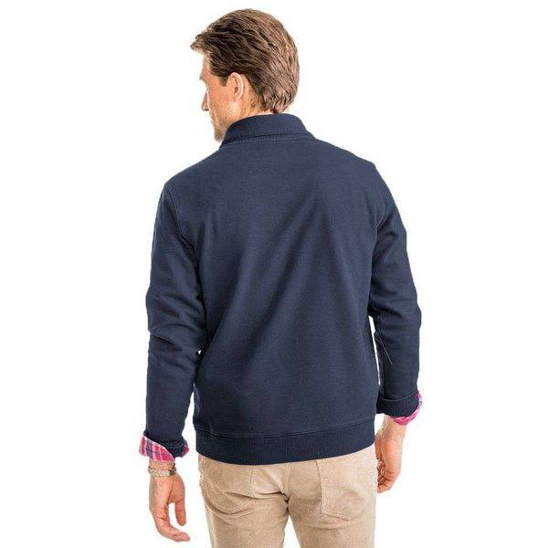 Southern Tide Buchthorn Shawl Collar Pullover in True Navy