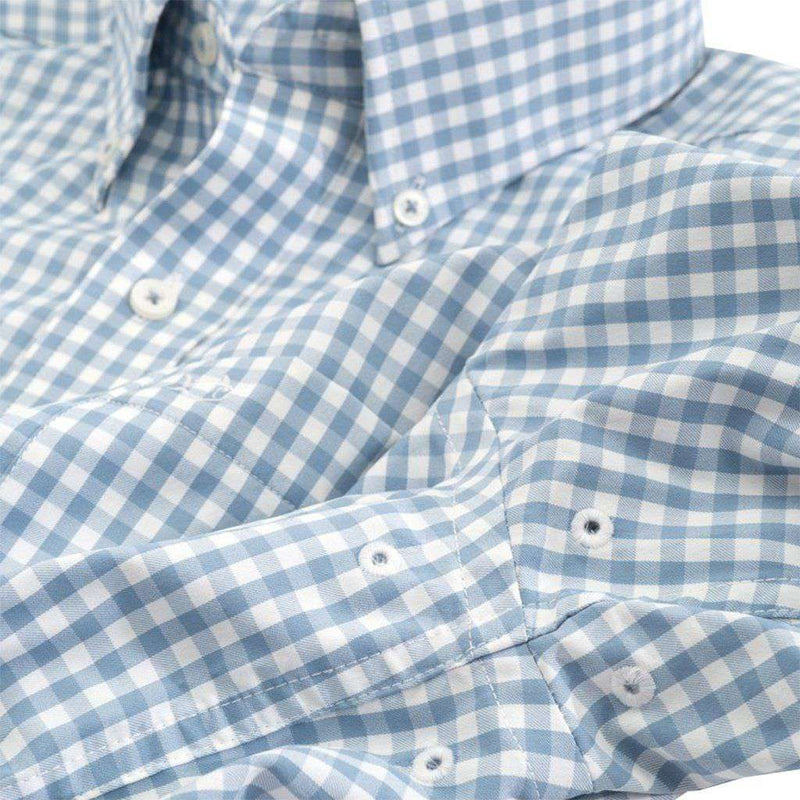 Bufflehead Gingham Intercoastal Sport Shirt by Southern Tide ash blue