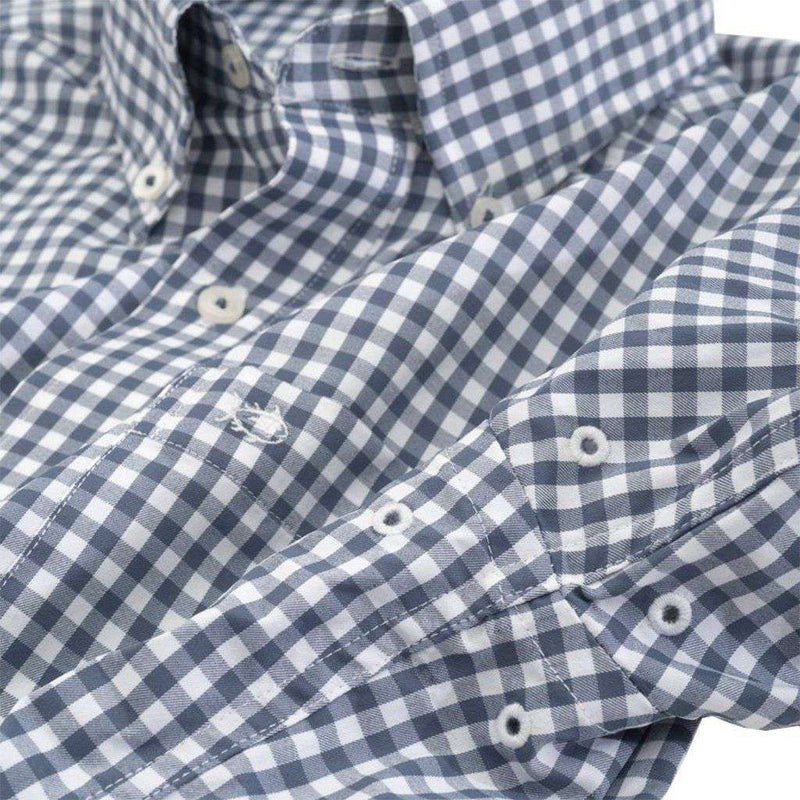 Bufflehead Gingham Intercoastal Sport Shirt by Southern Tide light indigo