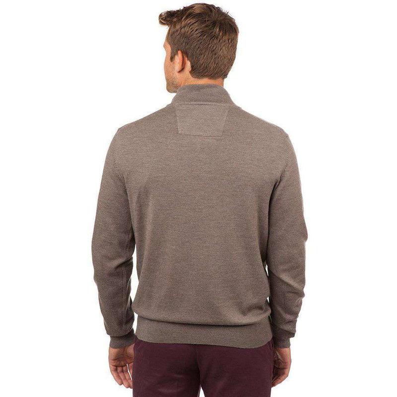 Captains 1/4 Zip Sweater in Driftwood Khaki by Southern Tide - FINAL SALE