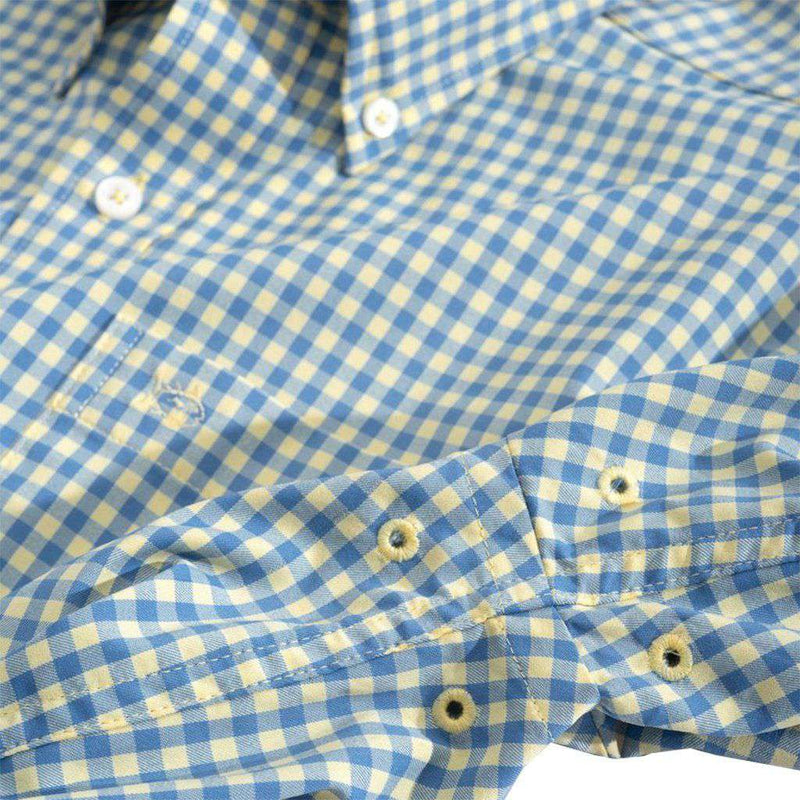 Southern Tide Causeway Gingham Intercoastal Performance Shirt summer haze