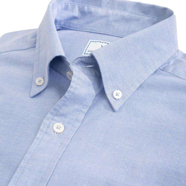 Southern Tide Channel Marker Oxford Solid Sport Shirt sky blue