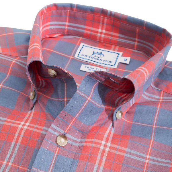 Charleston Station Plaid Sport Shirt in Infinity Blue by Southern Tide