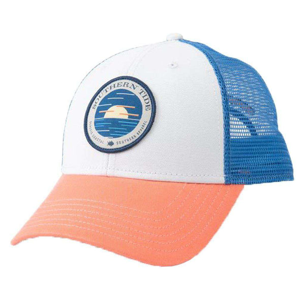 8a118728e51e1 Southern Tide Circle Horizon Patch Trucker Hat – Country Club Prep