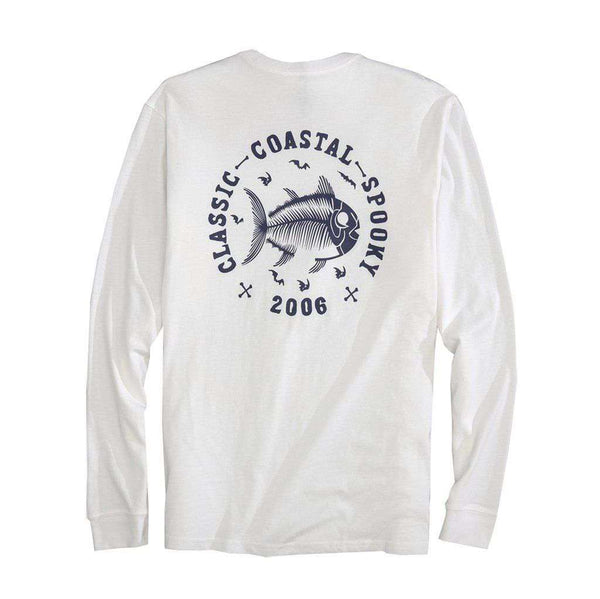 Southern Tide Classic Coastal Spooky Glow in the Dark Long Sleeve T-Shirt in Classic White
