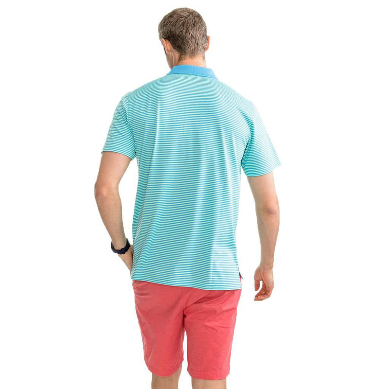 Fort Frederik Stripe Performance Pique Polo Shirt by Southern Tide - FINAL SALE