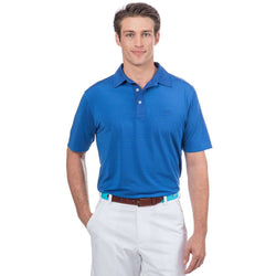 Southern Tide Game Set Match Stripe Performance Polo in Legacy Blue