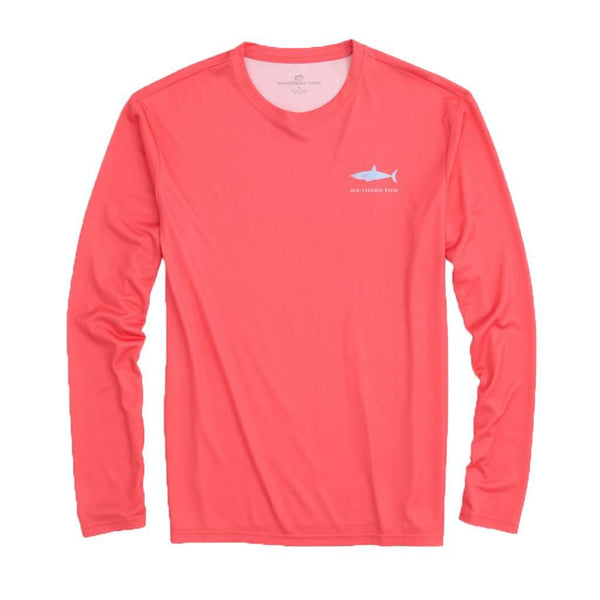 Southern Tide Great White Fish Flag Long Sleeve Performance T-Shirt