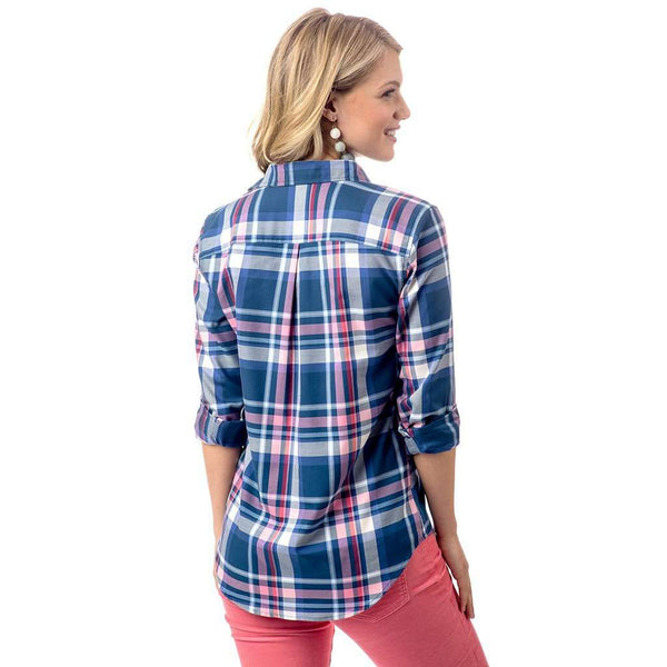 Southern Tide Hadley Popover in Cabin Fever Plaid