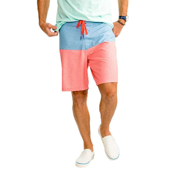Southern Tide Heather Color Block Water Short