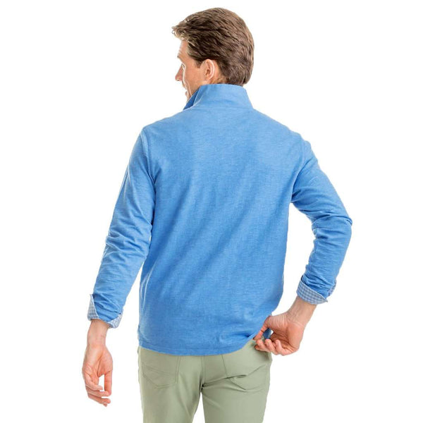 Southern Tide Heathered Gulf Stream Lightweight Pullover in Deep Water by Southern Tide