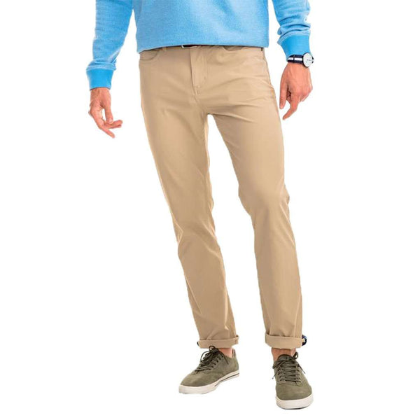 Southern Tide Intercoastal Performance Pant in Sandstone Khaki