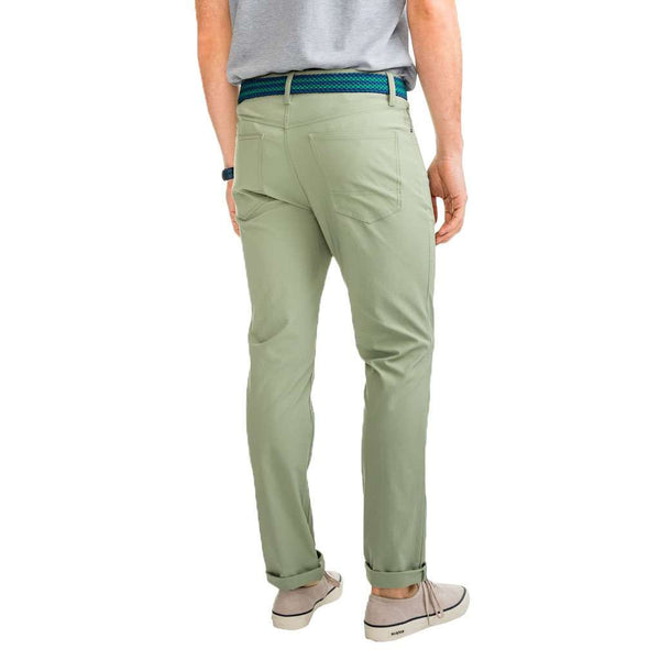 Southern Tide Intercoastal Performance Pant in Seagrass Green by Southern Tide
