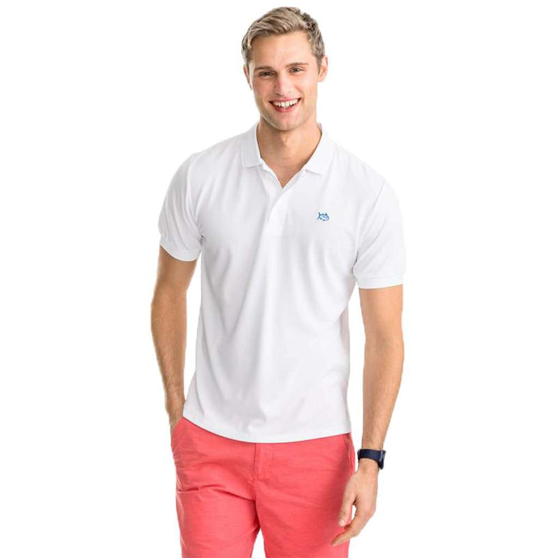 Southern Tide Jack Performance Pique Polo Shirt classic white