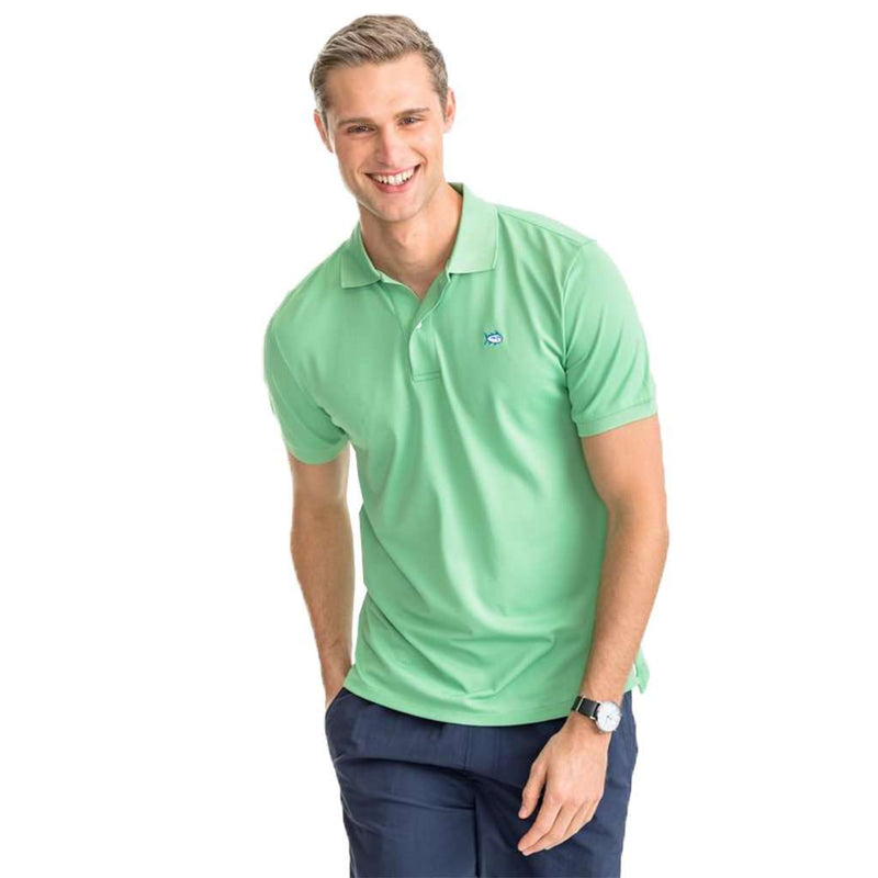 Southern Tide Jack Performance Pique Polo Shirt green glass