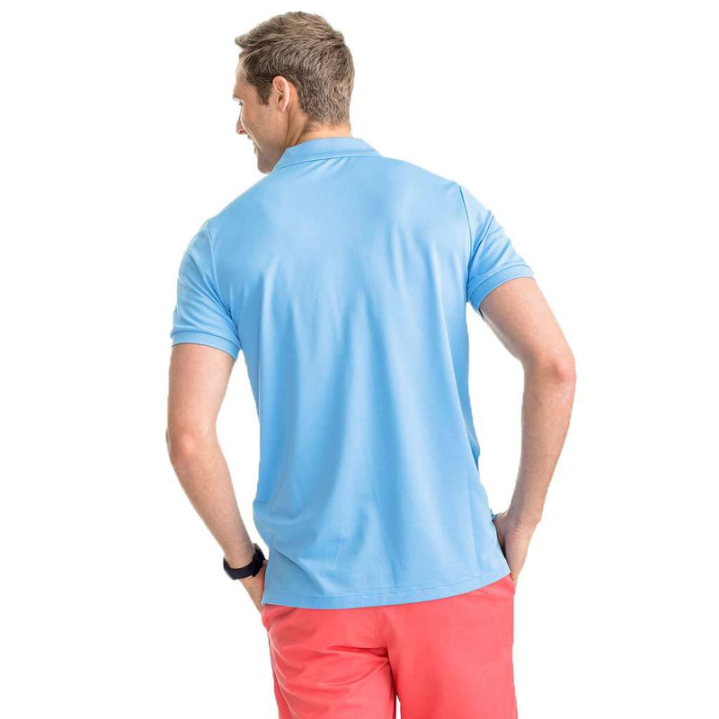 Southern Tide Jack Performance Pique Polo Shirt ocean channel
