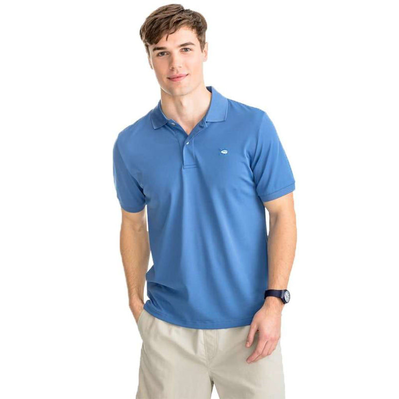 Southern Tide Jack Performance Pique Polo Shirt pompeii blue