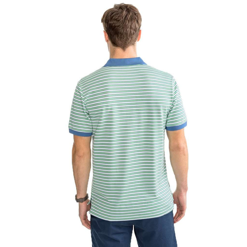 Southern Tide Jack Stripe Performance Pique Polo Shirt by Southern Tide