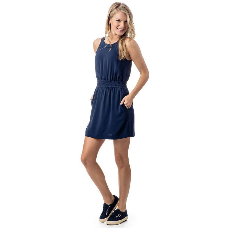 Southern Tide King Stress Dress In Nautical Navy Country Club Prep